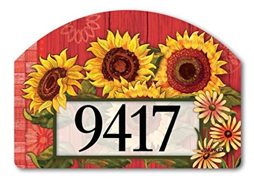Red Barn Sunflowers Yard Sign #71096