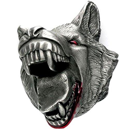 Buckle mit Wolfskopf, Wolf, Extreme 3D, Gürtelschnalle (Gürtelschnalle Wolf)