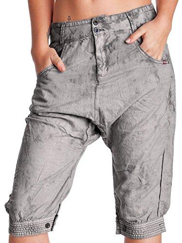 khujo - Dames Shorts Donte avec coupe profonde Gris