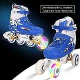 WeSkate Für Kinder Jungen Mädchen Zwei Modi Schaltbare Rollschuhe / Inline Skates Inklusive Schutz Sets Vorderräder Beleuchtung Ellbogenschützer / Knieschützer Einstellbare Größe Rollerblades