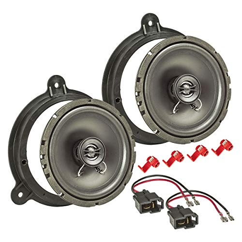 tomzz Audio 4038-001 Lautsprecher Einbau-Set für Nissan Micra Note Qashqai Juke X-Trail Navara 165mm Koaxial System TA16.5-Pro