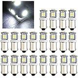 20x BA9s Lampe Ampoule 5 LEDs 5050SMD Lumière Blanc DC12V 0.6W Pour Voiture