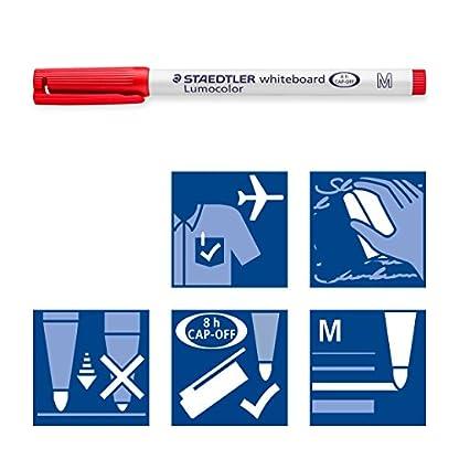 Staedtler LUMOCOLOR 301 WP4. Rotulador para pizarra blanca. Estuche de 4 colores