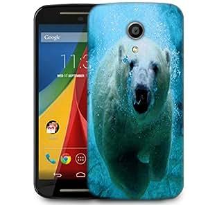 Snoogg Polar Beer Designer Protective Phone Back Case Cover For Motorola G 2nd Genration / Moto G 2nd Gen