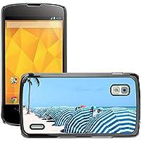 Case Carcasa Case Funda Case La // M00155635 Cabana Blu White Beach modello // LG Nexus 4 E960