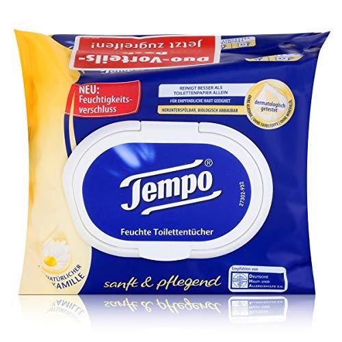 Tempo Feuchte Toilettentücher sanft & pflegend Duo Vorteilspack 2x42er(1er Pack) -