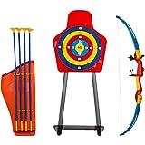 Set de Tiro con Arco de Juguete para Niños Arco Flecha Estuche y Diana Juegos de Exterior