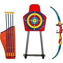 Savage Island Set de Tiro con Arco de Juguete para Niños Arco Flecha Estuche y Diana Juegos de Exterior