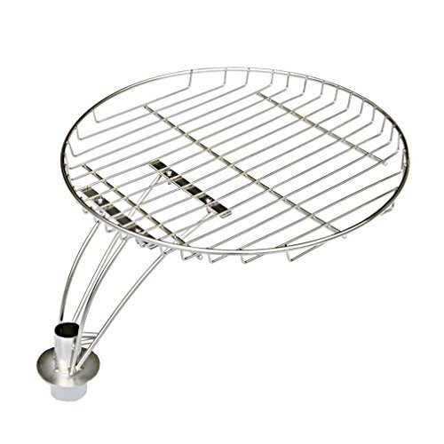 Onlyfire 34CM Warming Rack For 57 CM Charcoal Kettle Grill cooking grate with mounting holder, Fits Char-Griller 16620