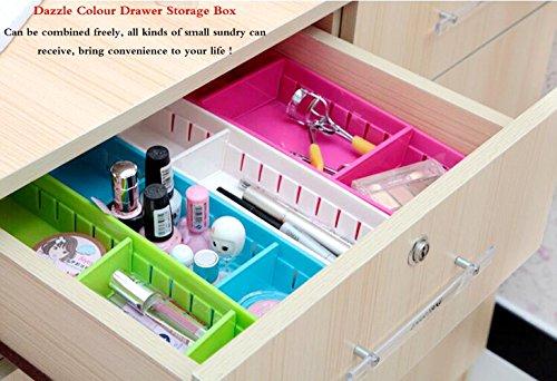 Set di 4 contenitori portaoggetti creativi per cassetti in plastica con scomparti divisori - Divisori per cassetti cucina ...