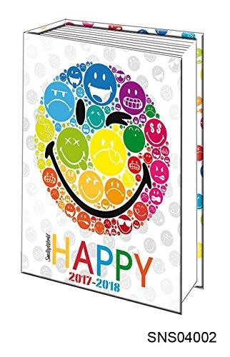 Alpa - 1 Agenda Scolaire Journalier 2017-2018 - Smiley Blanc - 12x17cm