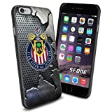 MLS , Chivas Soccer Team Crack Iron Design iPhone 6 Smartphone Case Cover Collector iPhone TPU Rubber Case Black by SURIYAN by SURIYAN