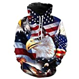 SANFASHION Pullover Herren Herbst Winter Hooded 3D Print Langarm Kapuzen Sweatershirt Top Bluse