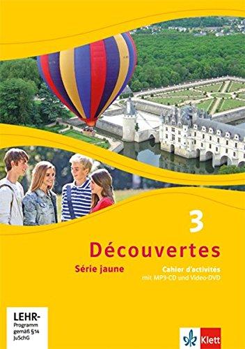 Produktbild Découvertes 3. Série jaune: Cahier d'activités mit MP3-CD und Video-DVD 3. Lernjahr (Découvertes. Série jaune (ab Klasse 6). Ausgabe ab 2012)