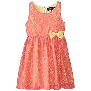 A.B.S by Allen Schwartz Big Girls' Lace Dress, Coral, 14