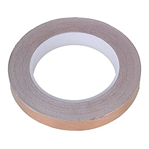 BQLZR 30m x15mm Brown Single-Sided Conductive Copper Foil Tape for PDA PDP LCD Shield Electromagnetic
