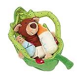 sigikid, Mädchen und Jungen, Baby bär im Blatt, 4-teiliges Rollenspiel, Grün/Braun/Orange, 41688