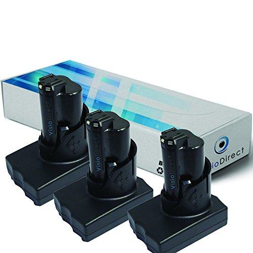 Lot de 3 batteries pour AEG Milwaukee 2458-20 cloueuse portative...