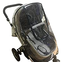Elonglin Universal Baby Stroller RainCover Upgraded Rainproof Dustproof Windproof Shield Cover Travel System Pushchair Throw Over Buggy Deluxe Rain Cover Fits Hundreds of Models Stroller Black Edge