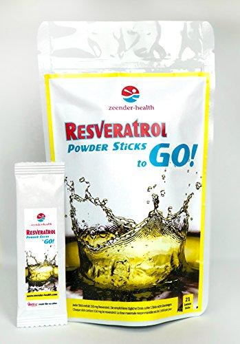 Resveratrol Pulver mit höchstem Qualitätsstandard aus rotenTrauben (150mg pro Stick). Von Evolva SA Schweiz. SONDERPREIS NUR FÜR KURZE ZEIT