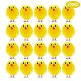 TUPARKA 20Pz Mini Pulcini pasquali Pulcini di ciniglia pasquali Gialli Simpatici Pulcini Completamente pasquali Pulcini per Bambini per la Festa di Pasqua, Decorazione per Cofano per Uova di Pasqua