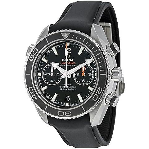 SEAMASTER Planet Ocean Chrono Negro Dial Goma Reloj para hombre