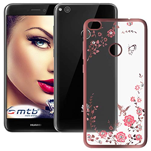 mtb more energy® Schutz-Hülle Bloomy für Huawei P8 Lite 2017 / P9 Lite 2017 (5.2'') | Rose Gold | TPU Case Cover Tasche