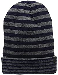 Wrangler Men's Stripey Hat Dark Grey Mel Beanie