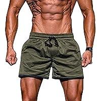 JiaMeng Hombres Gimnasio Entrenamiento Jogging Sport Fitness Jogging Elastic  Stretchy Bodybuilding MuscleBermuda Sweatpants Pantalones Cortos Fit 5c956d3d0c8