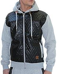 Cabaneli - sweat zipée homme - gris chiné
