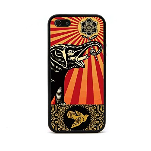 jmm-elephant-and-bird-pattern-obey-flower-design-black-bumper-hybrid-plastic-tpu-silicone-rubber-cel