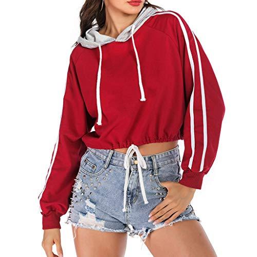 SCEMARK Damen große Größen bis, Oberteil, Sweatshirt, Pullover, Stehkragen, Langarm, Rundhals Damen-Mond Punk Style Langarm Freizeit Sweatshirt -