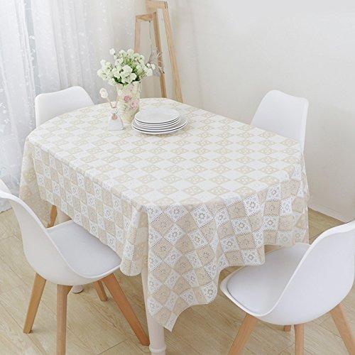 MoMo Nappe Pliante télescopique en Plastique de PVC de Coussin Ovale de Table étanche et Preuve d'huile,D-137 * 180cm