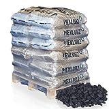 PALIGO Steinkohle Erbsenkohle Schmiede Brenn Heiz Nuss Kohle Fein 5-25mm 25kg x 12 Sack 300kg / 1 Palette Heizfuxx