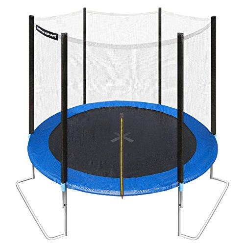 ultrasport-trampolino-da-giardino-jumper-inclusa-rete-di-sicurezza-blu-251-cm