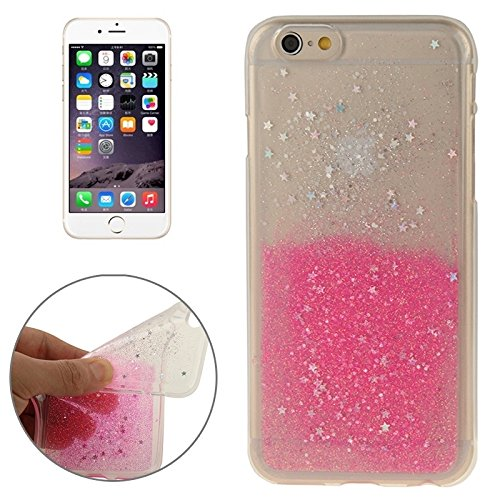 Für IPhone 6 / 6S, zweifarbige Star Sequins Flash Powder Serie TPU Schutzhülle DEXING ( Color : Olivine ) Magenta