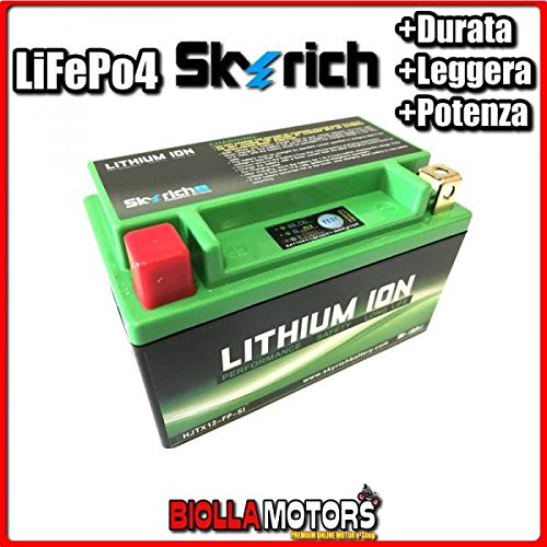 HJTX12-FP BATTERIA LITIO SKYRICH YT12A-BS LiFePo4 612120 YT12ABS MOTO SCOOTER QUAD CROSS