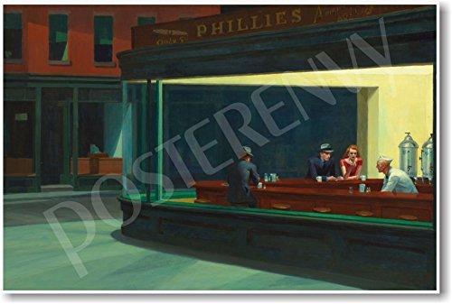 Nighthawks - 1942 - Edward Hopper - NEW Fine Arts Poster by PosterEnvy (Art Fine Hopper Edward)