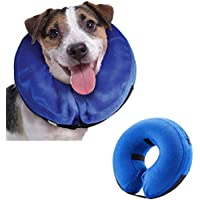 Emwel Pet Inflatable Collar for Large Dogs, Comfy Pet Collar Cone for Revecovery, Inflatable Basic Dog Collars, L