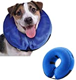 Emwel Pet gonfiabile collare per cani di taglia grande, confortevole collare cono per Revecovery, gonfiabile Basic collari per cane, L...