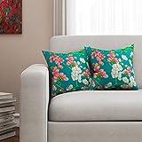 [Sponsored]SEJ Cotton (Set Of 2) HD Digital Premium Cushion Cover 16 By 16 INCH Green
