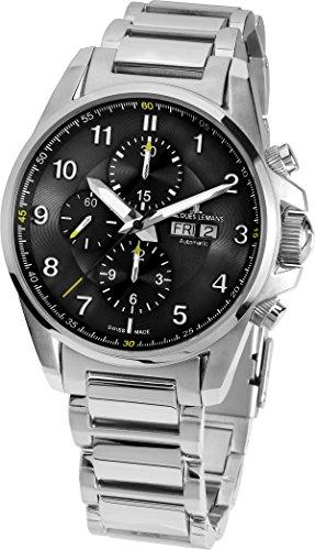 Jacques Lemans 1-Reloj de Pulsera para Hombre XL Liverpool Automatic Cronógrafo Automático Acero Inoxidable 1-1750d
