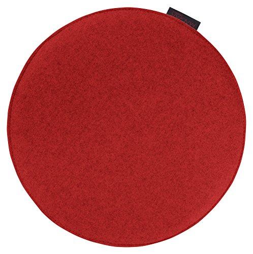 Sitzkissen AVARO - rot - 35x2 cm