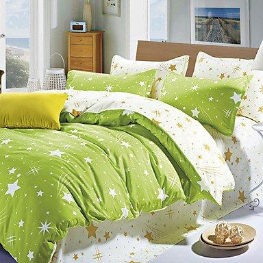 AIURLIFE Juego de edredón funda de 4 las hojas de cama , full