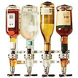 Janolia Getränkespender zur Wandmontage, für 4 Flaschen und Bar-Butler für alkoholische Getränke – Wodka, Whiskey, Rum, Gin