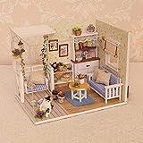 Puppenhaus Bausatz- Kätzchen-Tagebuch - Mit LED-Leuchten,DIY Spielzeug Traumhaus,Miniatur Puppenhaus Kits,17.111.613.1cm