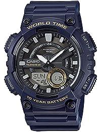 Casio AEQ-110W-2AVEF - Reloj de pulsera hombre, Resina, color Azul