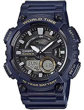 Casio Collection Herrenuhr Analog/Digital Quarz mit Resinarmband – AEQ-110W-2AVEF
