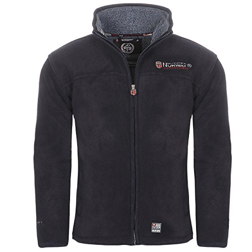 Navy Blue Jacke Fleece (Geographical Norway Usain Herren Fleece Jacke Navy Gr. L)