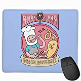 Bacon Pancakes Gaming Mouse Pad Non-Slip Rubber Mousepad for Computers Desktops laptop Mouse Mat 7 x 8.6 in
